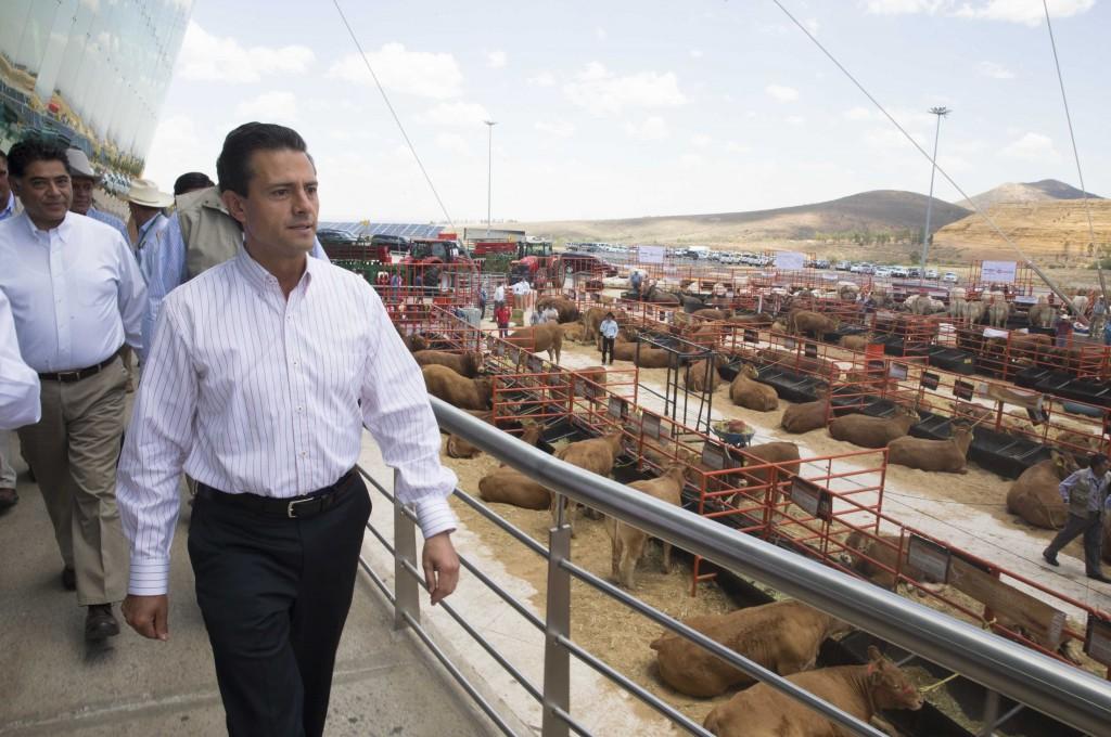 EPN anunció también una inversión de 120 millones de pesos para el programa de pruebas de ADN para ganado.