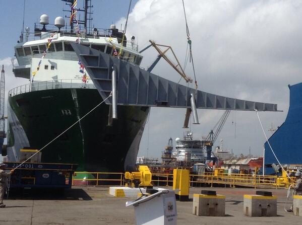 Serán 22 embarcaciones de distintos calados las fabricadas en cuatro estados; en la imagen, el remolcador Azimutal C-130.