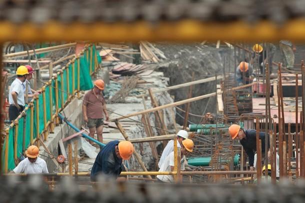 El sector de la construcción sufrió una caída de 2.9% en comparación con el año anterior.