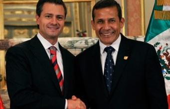 México y Perú son integrantes de la Alianza del Pacífico junto con Chile y Colombia.