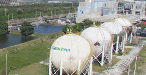 Actualmente, Mexichem se ubica como una de las empresas más importantes de América Latina en plantas de cloro, sosa y PVC.