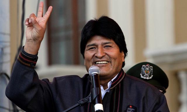 Evo Morales estará al frente de su país por otros cinco años.