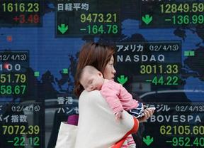 Bolsas en Asia siguen cayendo, en Shanghai Composite cierra con pérdida de 5.90%; y el Nikkei en Japón con -3.14%.