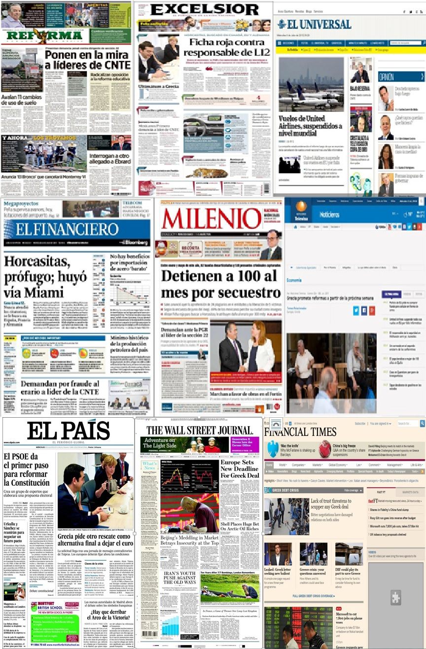 Los titulares de la prensa el día de hoy