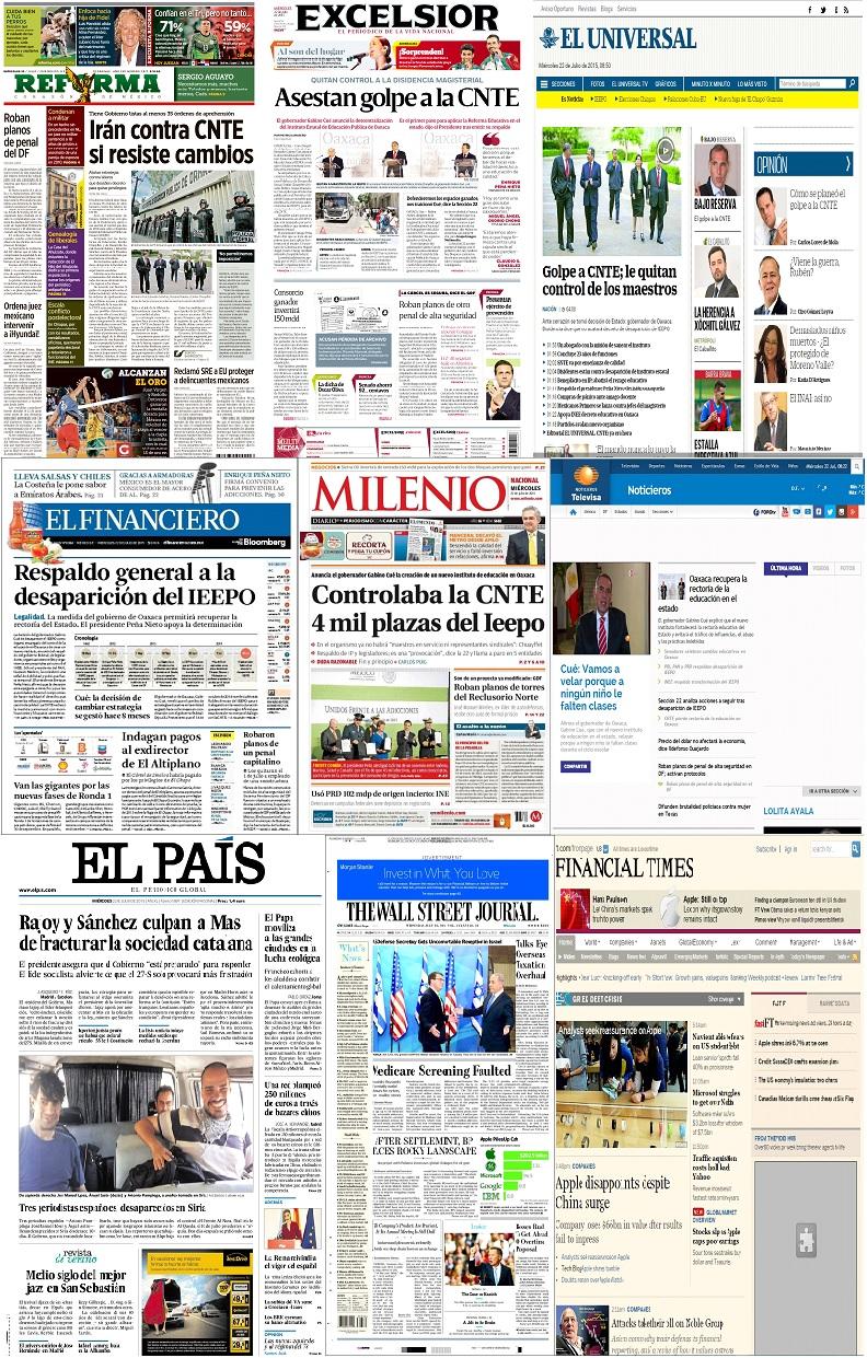 Los principales titulares de México y el mundo del 22 de julio