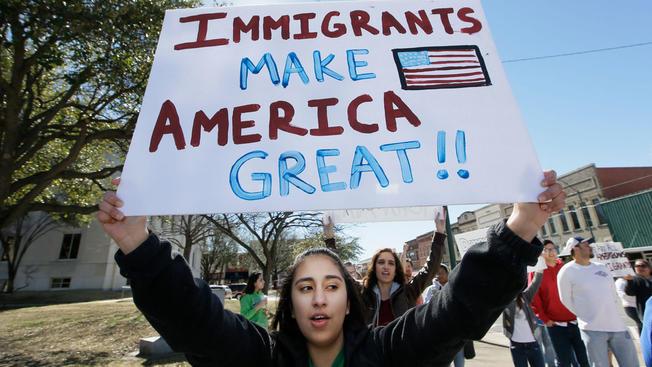 Desde el inicio de la administración Trump los migrantes han realizado varias protestas contra las políticas racistas del republicano.