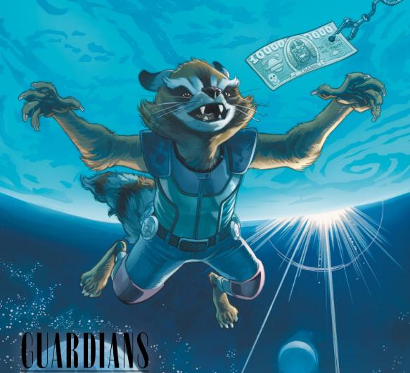 Marvel soprendió con sus nuevos dibujos en los que rinden homenaje al rock en inglés
