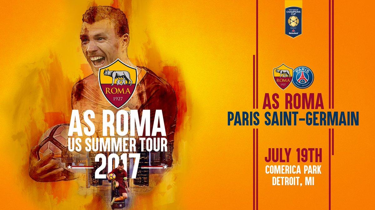 Roma y PSG se enfrentan en el Comerica Park de Estados Unidos