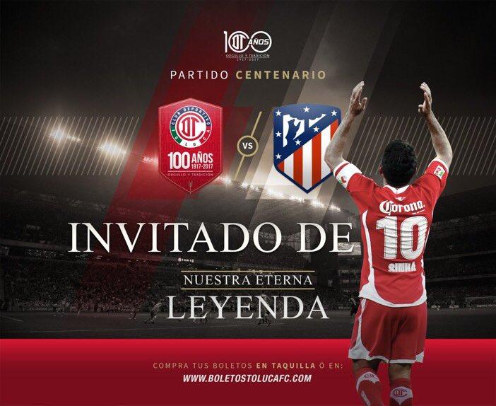Toluca celebra su centenario enfrentando al Atlético de Madrid