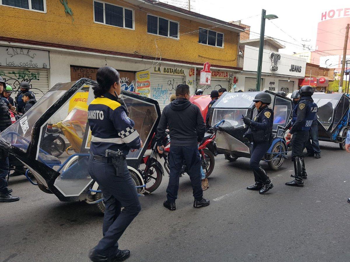 La Semovi retiró los mototaxis por ser un transporte no autorizado