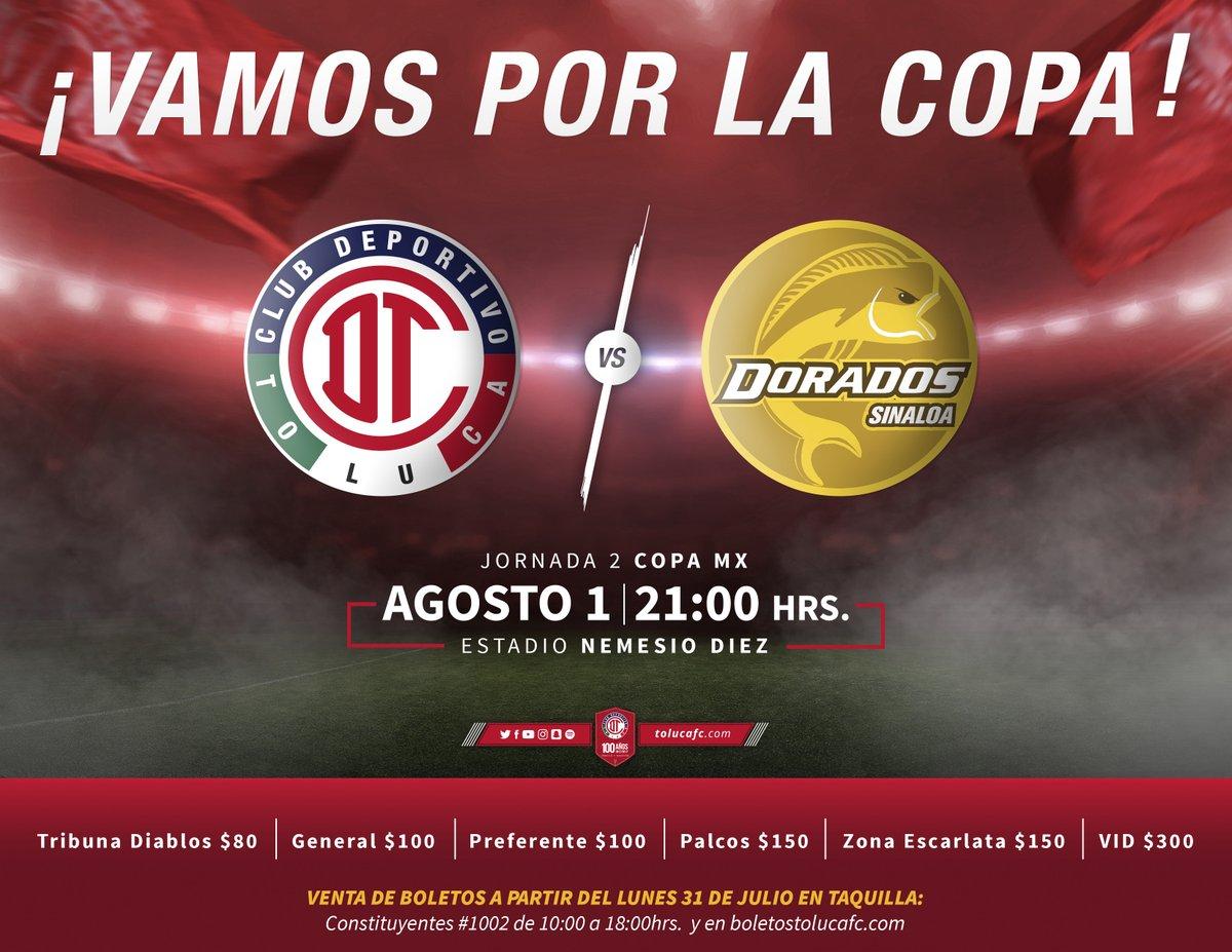 Los Diablos Rojos se enfrentan a Dorados de Sinaloa en la Copa Mx