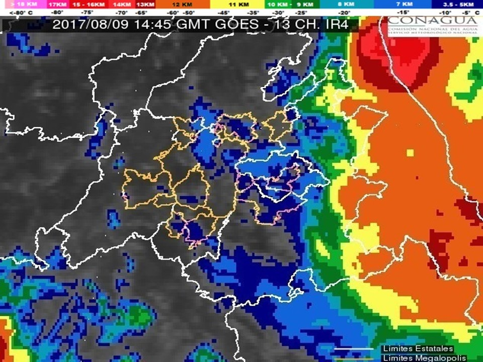 Las lluvias serán provocadas por la presencia de Franklin en el Golfo de México
