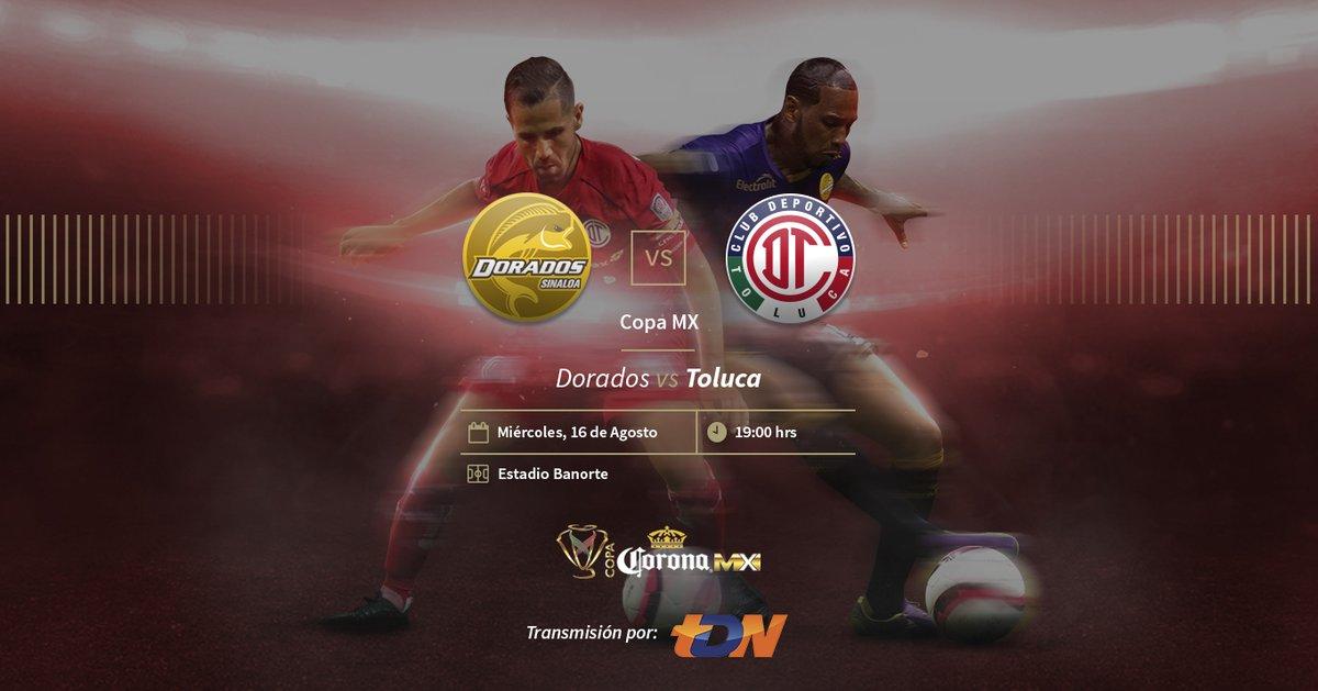 Dorados y Toluca miden fuerzas en la Jornada 4 de la Copa Mx
