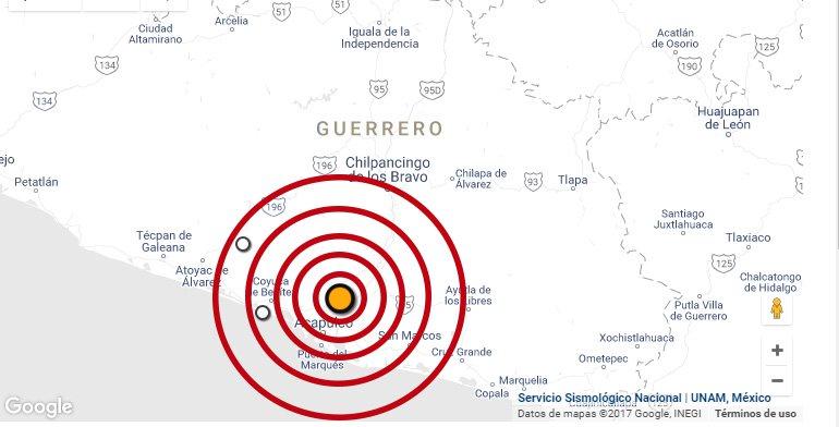 Temblor en Atoyac, Guerrero