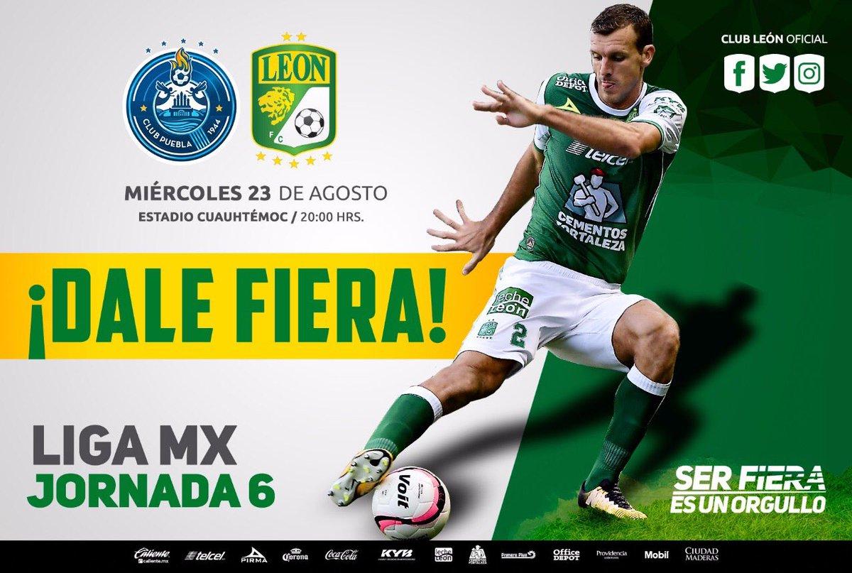 León visita a Puebla en la Jornada 6 del Apertura 2017