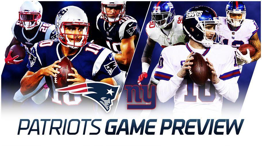 Giants y Pats chocan en el cierre de pretemporada de la NFL