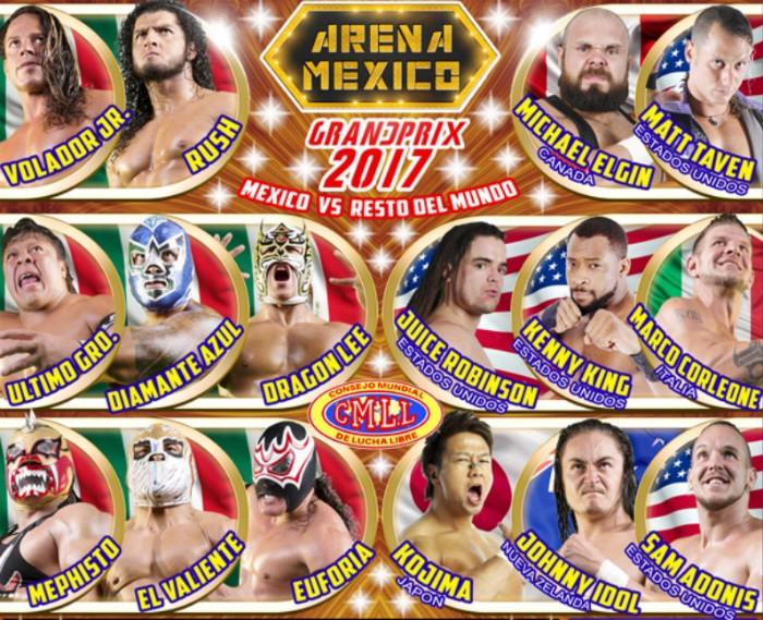 El Grand Prix del CMLL se lleva a cabo en la Arena México