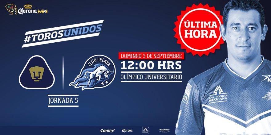 Pumas y Celaya se enfrentan el domingo en Ciudad Universitaria