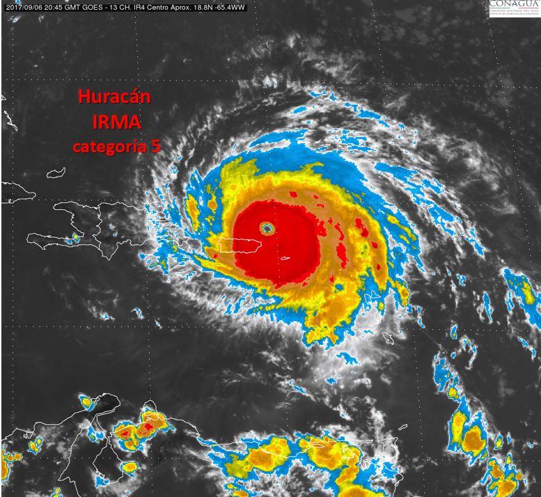 Huracán Irma. Foto: Conagua