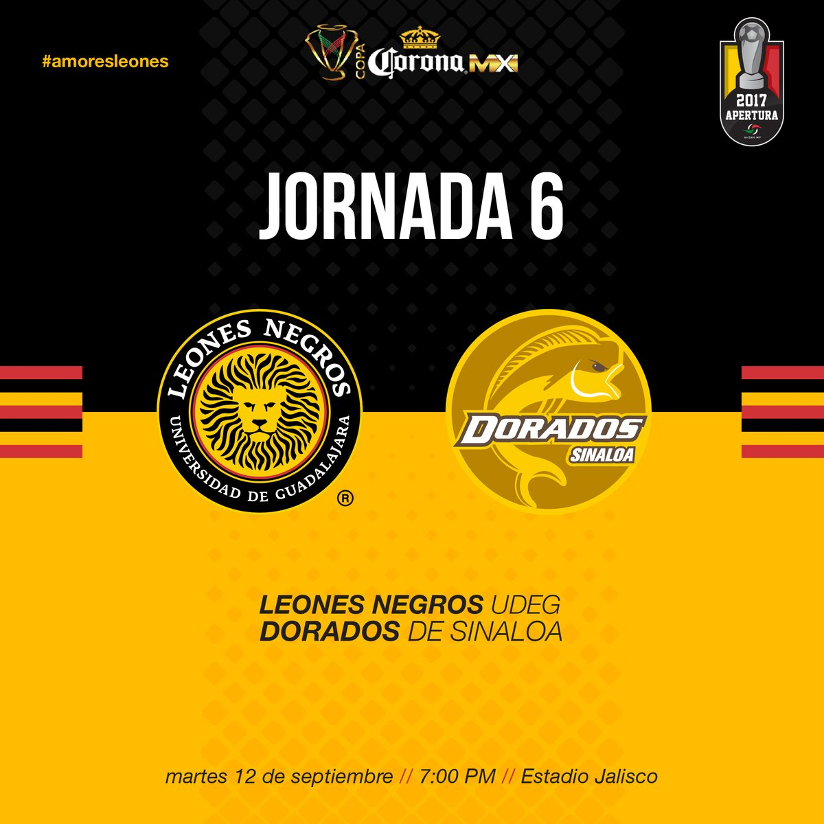 Leones Negros recibe a Dorados en la última jornada de la Copa Mx
