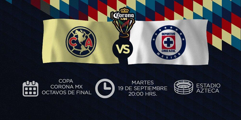 América y Cruz Azul chocan en octavos de final de la Copa Mx