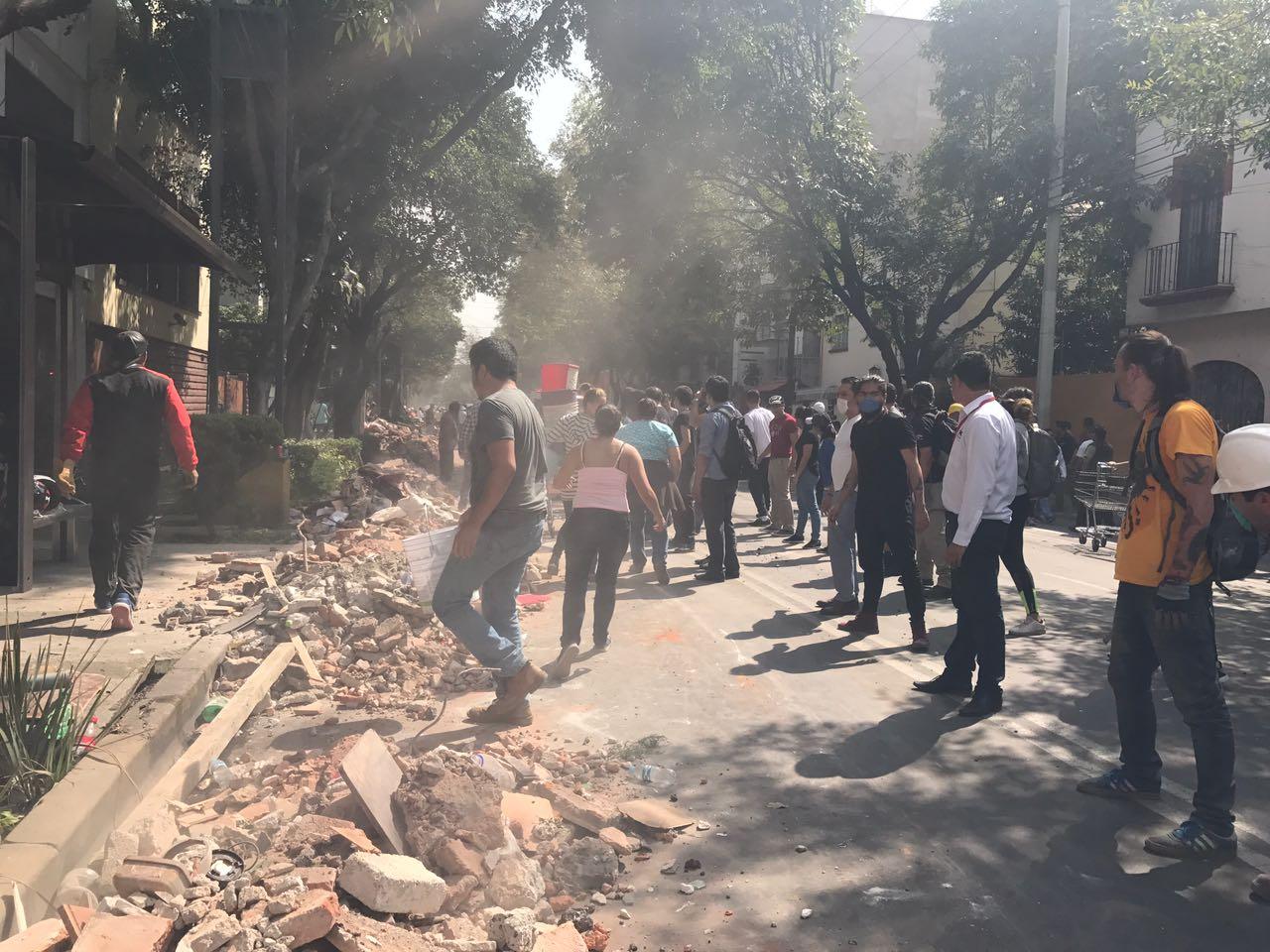 Al igual que en el sismo de 1985, el centro de la ciudad fue el más afectado.
