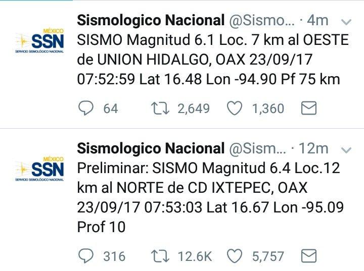 Nuevo sismo en México