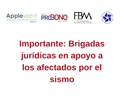 La Red Probono y la Fundación Barra Mexicana ofrecen ayuda jurídica gratuita a los damnificados por el sismo