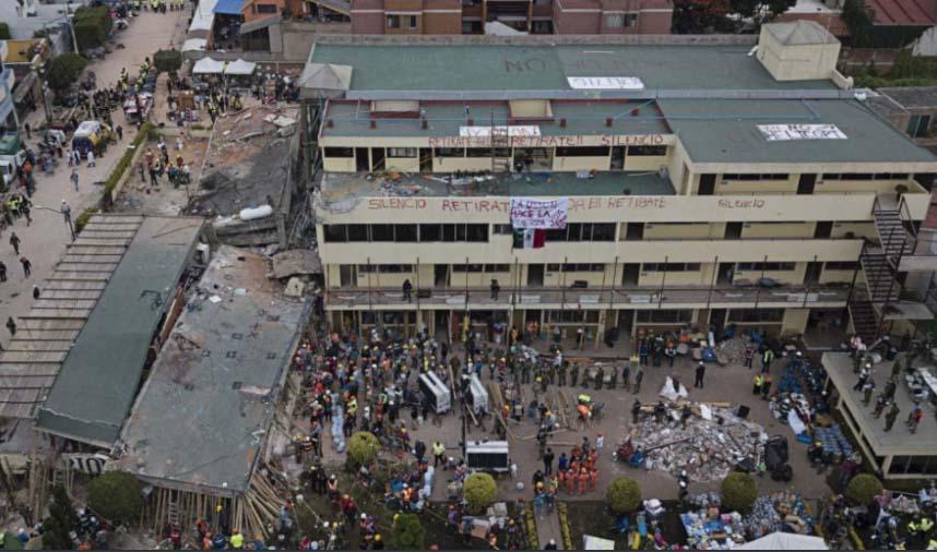 Según testimonios la negligencia fue lo que realmente ocasionó la muerte de alumnos y profesores del Colegio Enrique Rébsamen.