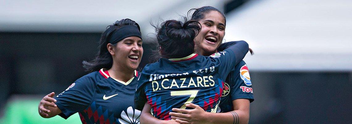 Las Águilas se mantienen como líderes del Grupo 1 de la liga femenil