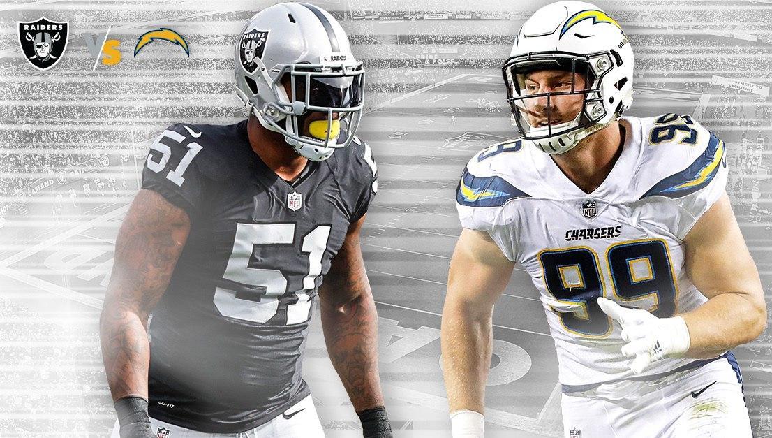 Chargers visita a Raiders en la Semana 6 de la NFL