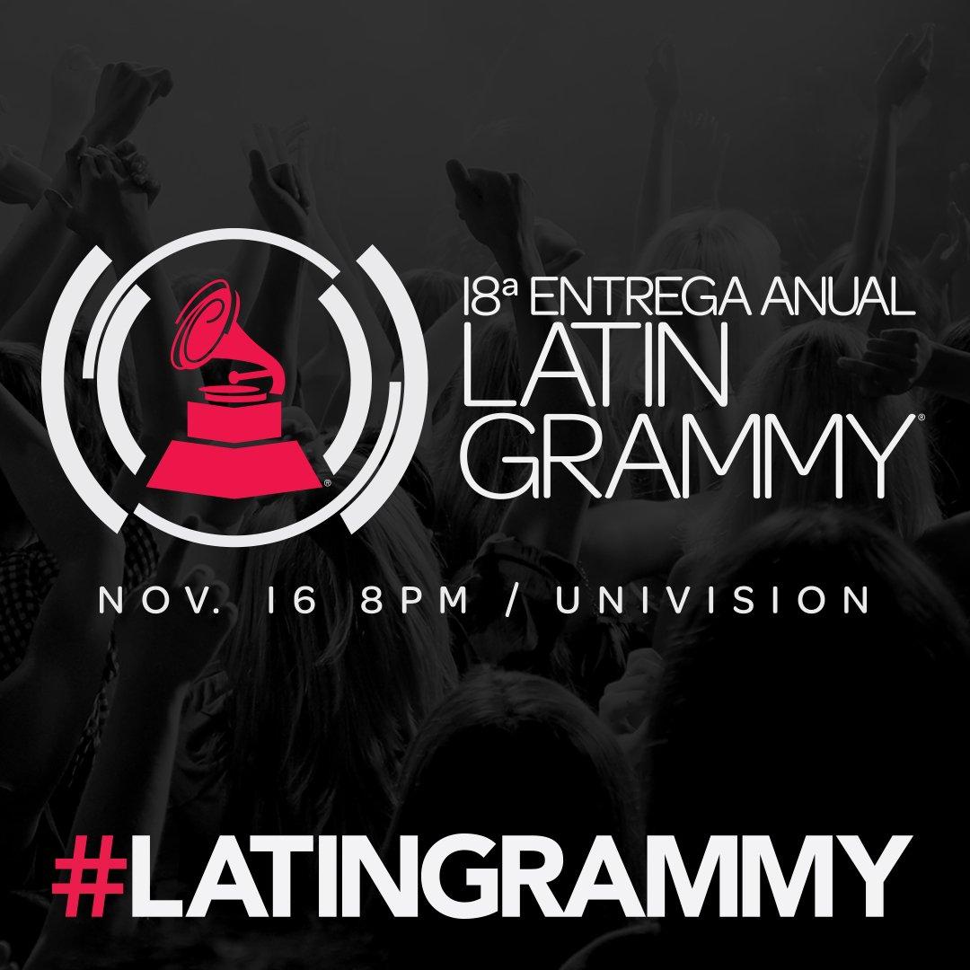 Latin Grammy. Foto: Latin Grammy/Twitter @LatinGRAMMYs