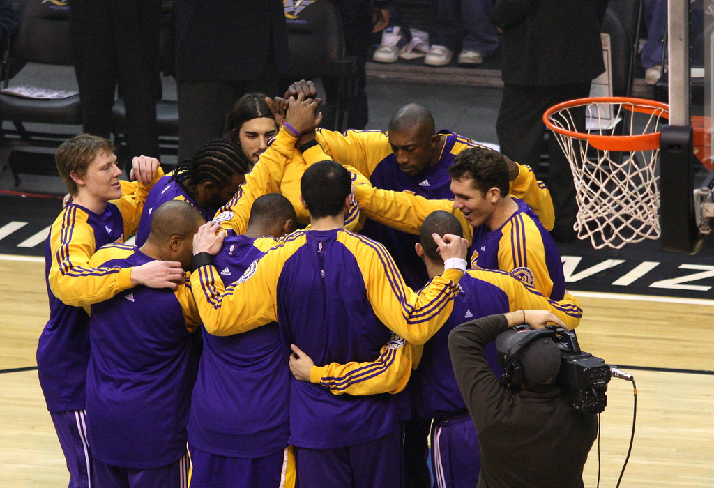 Los Ángeles Lakers. Foto: Lakers/Flickr