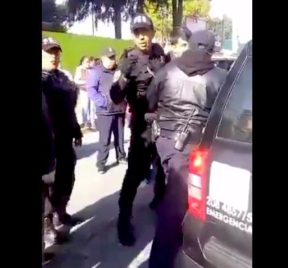 Policias Metepec agreden a periodistas