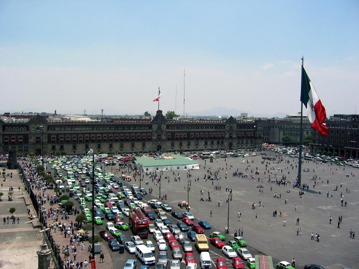 Zócalo. Foto: Zócalo Capitalino/Wikipedia