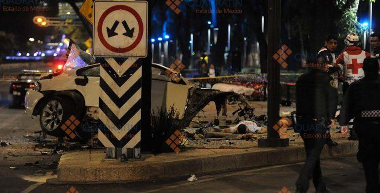 En marzo de esta año, un accidente vehicular en Paseo de la Reforma cobró cuatro vidas, el conductor -que sobrevivió al percance- era hombre.