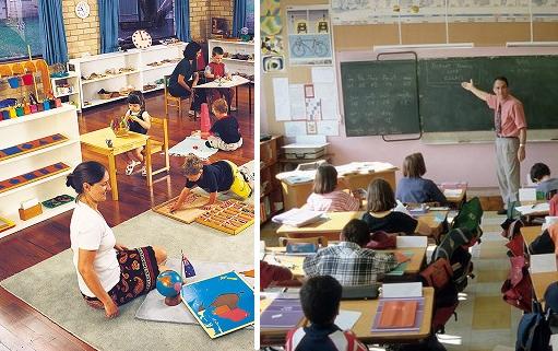 El método de educación Montessori esta basado en que los niños hagan uso de la razón para aprender y ser independientes.
