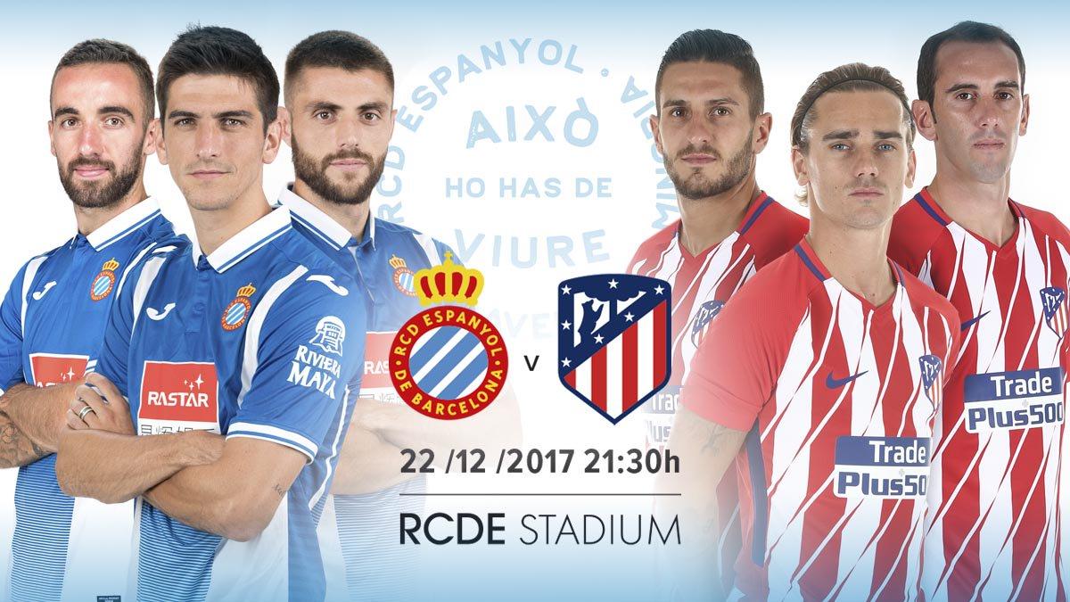 Espanyol vs Atlético de Madrid. Foto: Espanyol/Twitter @RCDEspanyol