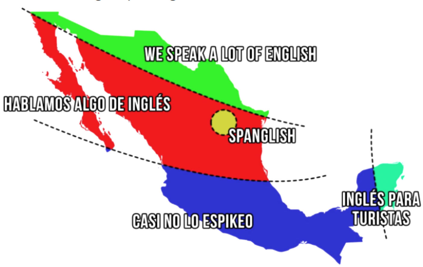 Mapa México que sólo los mexicanos entenderán