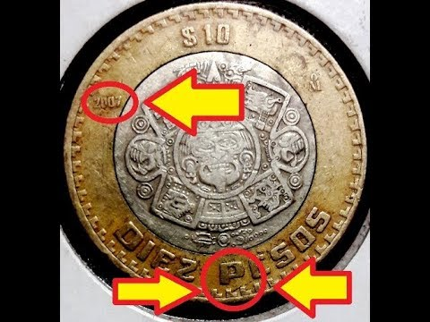 Tus monedas de 10 pesos pueden valer más de mil pesos. Foto: YouTube