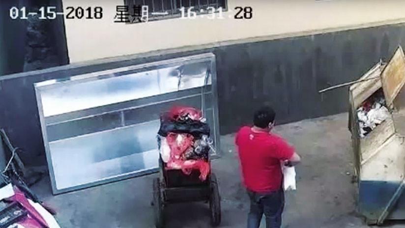 Hombre abandona a su hija en la basura, pensó que no sobreviviría.