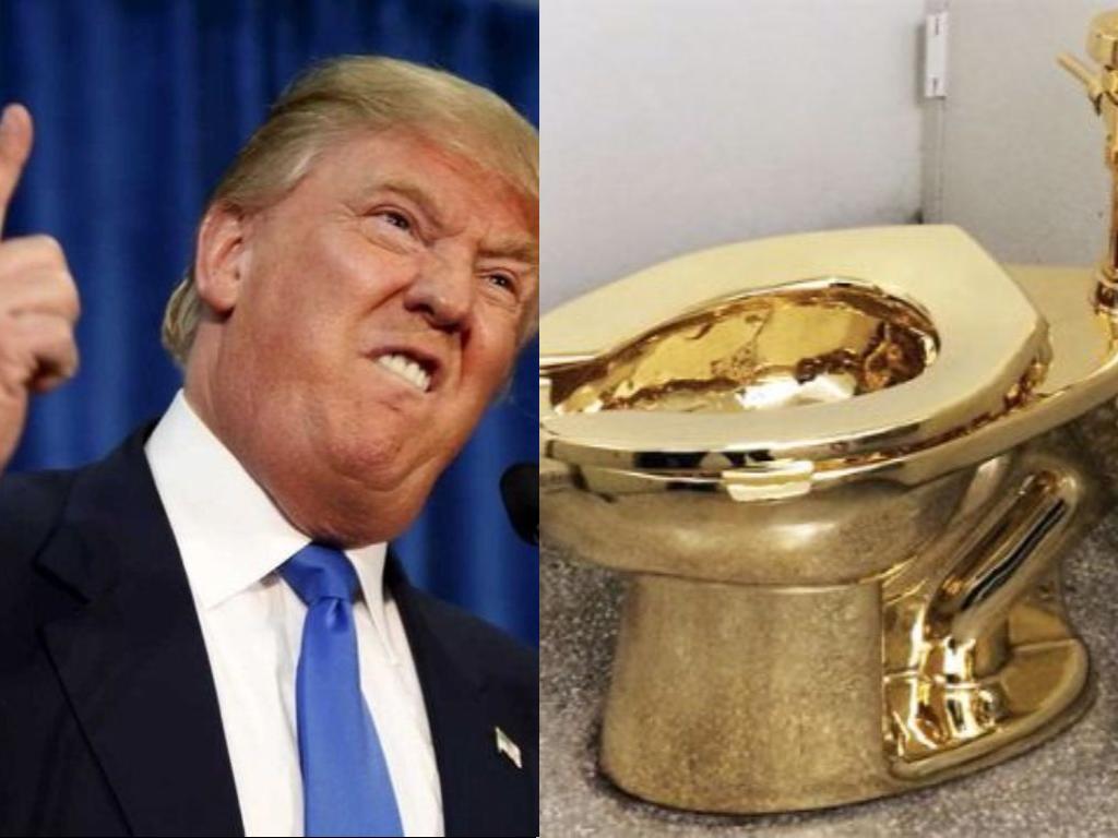 Trump pide prestada obra de Van Gogh al Museo Guggenheim y le ofrecen inodoro de oro