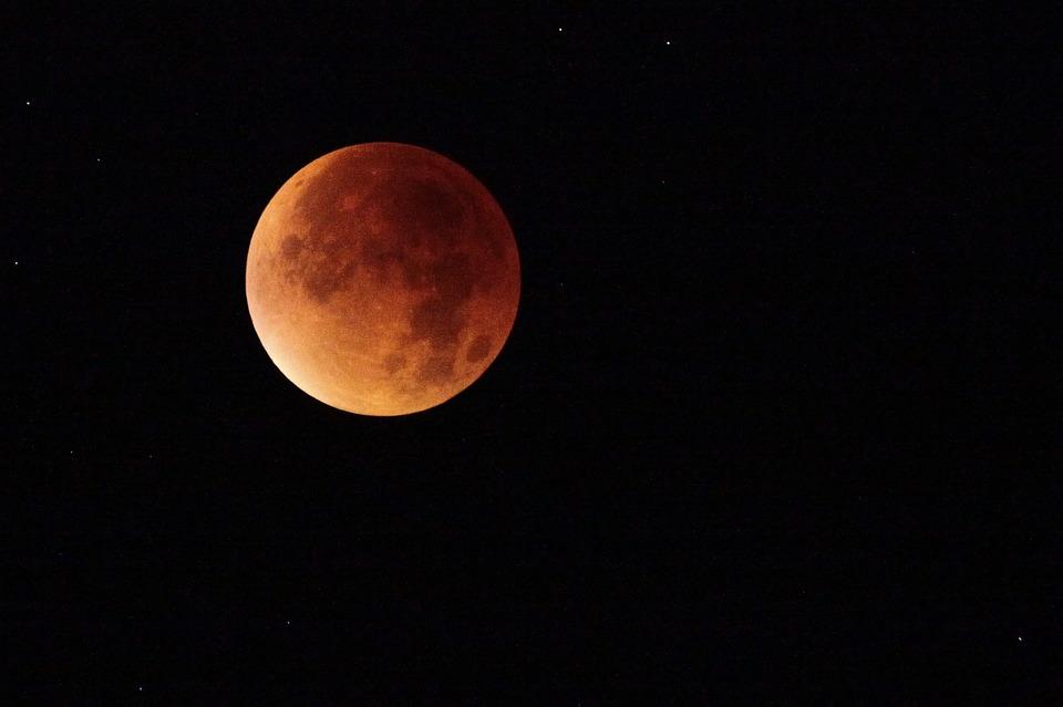 Eclipse de la superluna azul de sangre. Foto: Luna/Pixabay