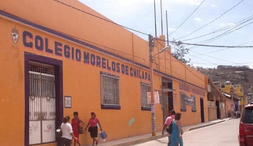 El colegio Morelos era uno de los más antiguos y reconocidos en Chilapa, ahora fue abandonado por la violencia.