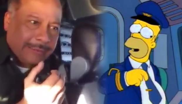 Humberto Vélez le habló a la tripulación como Homero Simpson en pleno vuelo