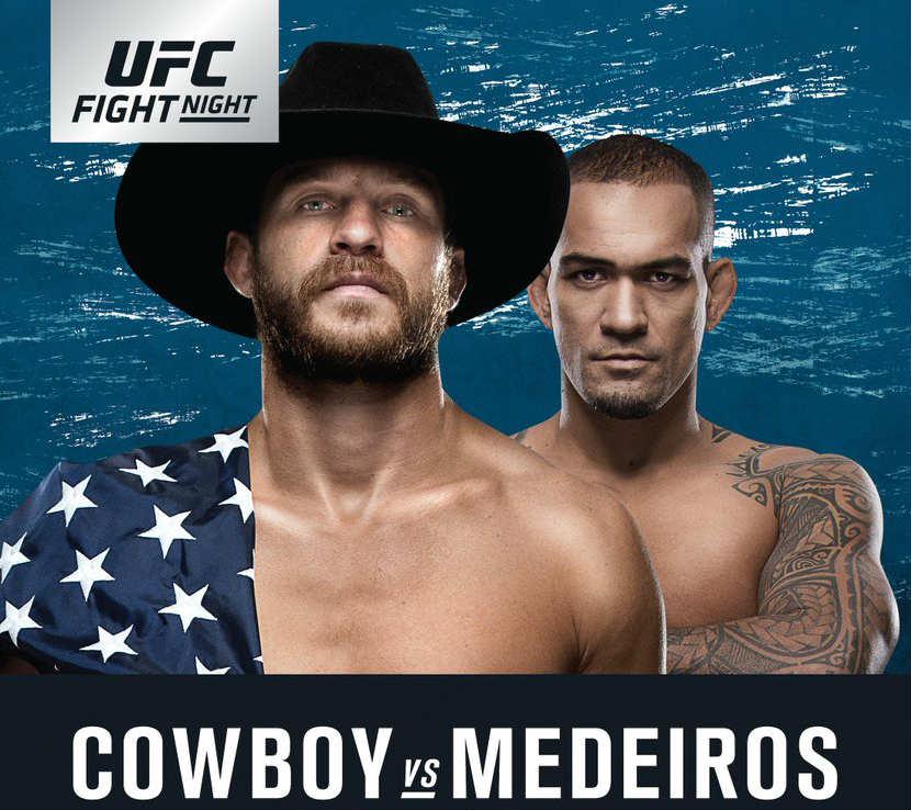 UFC. Foto: Donald Cerrone vsYancy Medeiro/Twitter @ymedeiros