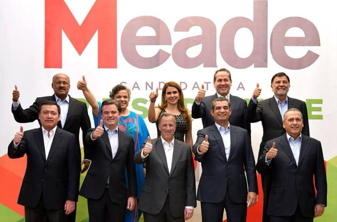 Meade, compone su equipo de campaña por líderes priístas como Chong, Paredes y Beltrones. Foto: Twitter