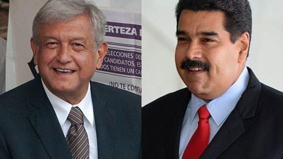 La supuesta nota del apoyo de Maduro a AMLO ha sido retomada por varios medios, sin embargo el video es un montaje. Fotos Wikicommons.