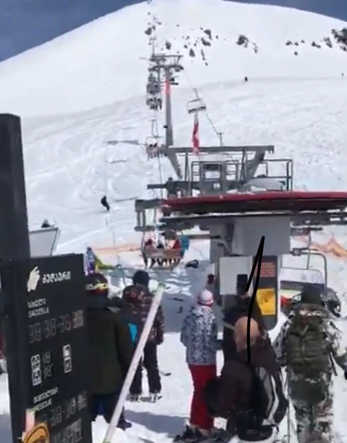 Foto: Esquiadores en Georgia/ Video Youtube