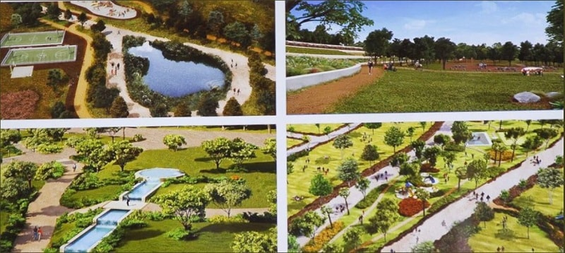 El nuevo parque La Cañada fue presentado por Mancera el último día frente a la Ciudad de México.